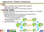 application climate simulation