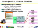 demo system of a climate simulation