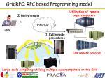 gridrpc rpc based programming model