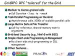 gridrpc rpc tailored for the grid