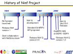 history of ninf project