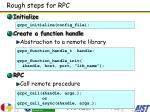 rough steps for rpc