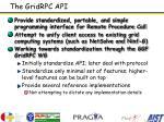 the gridrpc api