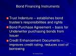 bond financing instruments1