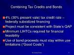 combining tax credits and bonds