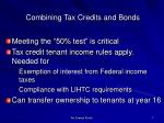 combining tax credits and bonds1