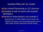 qualified pabs with tax credits