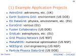 1 example application projects