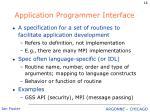application programmer interface