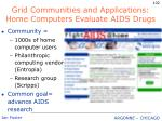 grid communities and applications home computers evaluate aids drugs