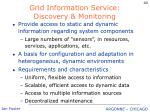 grid information service discovery monitoring