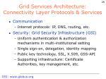 grid services architecture connectivity layer protocols services
