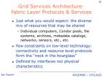grid services architecture fabric layer protocols services