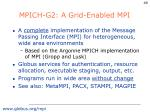 mpich g2 a grid enabled mpi