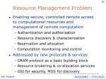 resource management problem
