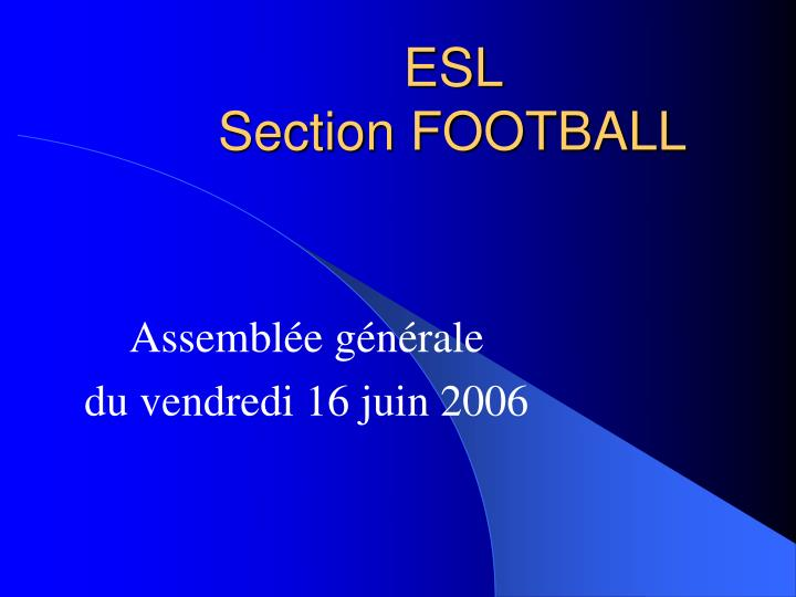 esl section football n.