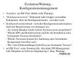 evolution wartung konfigurationsmanagement2