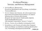 evolution wartung versions und release management