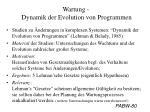 wartung dynamik der evolution von programmen