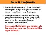error irregularity