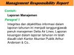 management responsibility report1