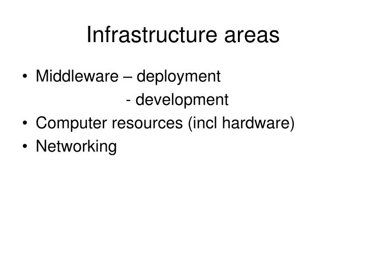 infrastructure areas n.
