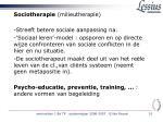 sociotherapie milieutherapie