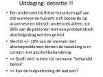 uitdaging detectie