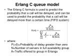 erlang c queue model