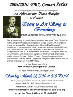 an afternoon with david cangelosi in concert