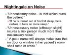 nightingale on noise