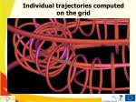 individual trajectories computed on the grid