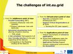 the challenges of int eu grid