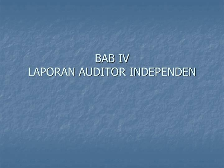 bab iv laporan auditor independen n.