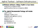 apgrid testbed software infrastructure