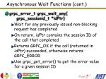 asynchronous wait functions cont1