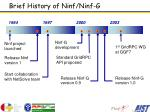 brief history of ninf ninf g