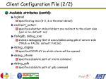 client configuration file 2 2