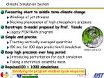 climate simulation system