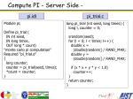 compute pi server side