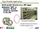 data parallel application