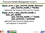 function handle management cont