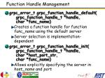 function handle management