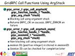gridrpc call functions using argstack
