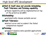 high level api development