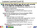 lessons learned cont d5