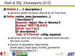 ninf g idl statements 2 2