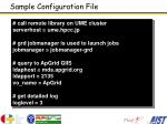 sample configuration file