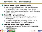 the gridrpc api fundamentals