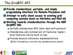 the gridrpc api